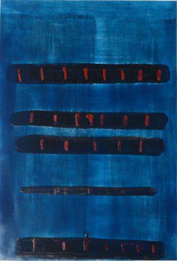 Alain Husson-Dumoutier - Rôles et chiffres - Huile sur papier marouflé sur cardboard – Série Egypte en Egypte - 96x69 cm