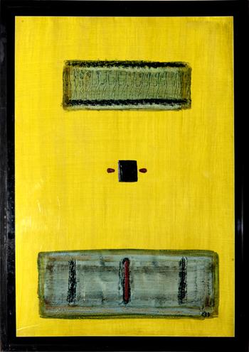 Alain Husson-Dumoutier - Structure et compétence - Huile sur papier marouflé sur cardboard - 100x700 cm