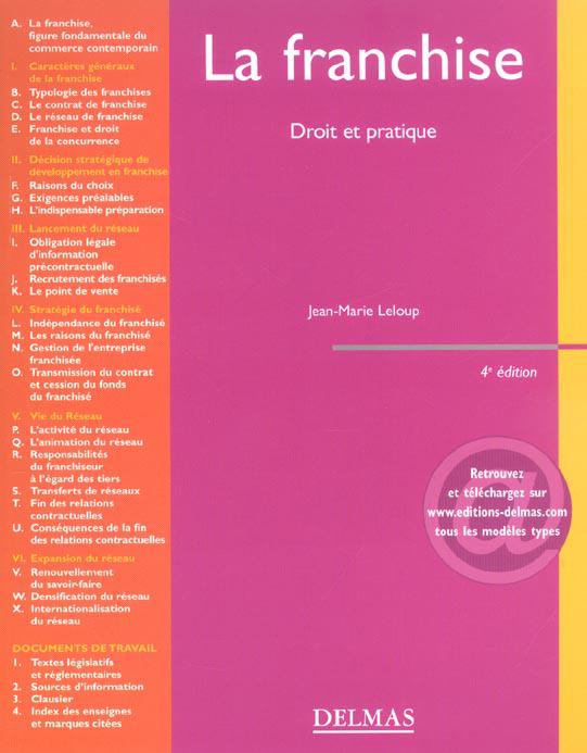 La Franchise, droit et pratique (Franchise, Law and Practice)